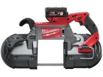 Milwaukee M18 CBS 125-502C 18V Li-Ion accu bandzaag set (2x 5.0Ah accu) in koffer - 125x125mm - koolborstelloos - 4933448195