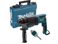 Makita HR2630X7 SDS-plus Combihamer incl. snelspanboorkop in koffer - 800W - 2,4J