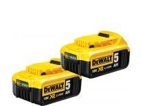 DeWalt Duopack DCB184 2x 18V Li-Ion accu - 5.0Ah