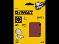 DeWalt DT3031 Schuurpapier - P60 - 115x115mm (25st) - DT3031-QZ
