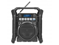 PerfectPro TEAMPLAYER BLACK EDITION Bouwradio - FM RDS - DAB+ - bluetooth - aux-in - netstroom & batterij