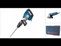 Bosch GSH 11 VC SDS-max breekhamer in koffer - 1700W - 23J + GWS 850 C haakse slijper - 850W - 125mm