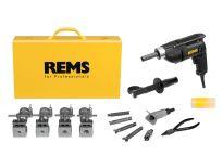 Rems Twist/Hurrican Combi Set 12-14-16-18-22 Elektrische Buisuithaler/Optromper in stalen koffer - 10-22mm - 156012