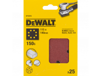 DeWalt DT3015 Schuurpapier - P150 - 115x115 (25st) - DT3015-QZ