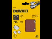 DeWalt DT3035 Schuurpapier - P240 - 115x115 (25st) - DT3035-QZ