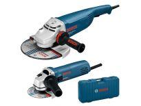 Bosch 0615990H1T Haakse slijper set (GWS 20-230 H + GWS 850 C) in koffer - 2000W / 850W - 230mm / 125mm