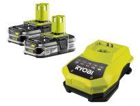 Ryobi RBC18LL15 18V Li-Ion accu starterset (2x 1.5Ah) + lader - 5133001914