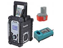 Makita BMR103B Bouwradio op accu of netstroom met lPhone dock + accu en lader