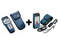 Bosch GLM50C Laser afstandmeter in tas 50m - GMS120 leidingzoeker / multidetector in tas - 120mm (Combiset) - 06159940HL