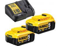 DeWalt DCB115P2 Starterset 18V 2x 5.0Ah accu + oplader - DCB184 - DCB115  - DCB115P2-QW