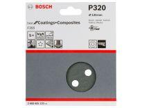 Bosch 2608605120 Schuurschijf F355 - K320 - 125mm (5st)