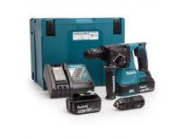Makita DHR243RMJ 18V Li-Ion Accu SDS-plus combihamer incl. snelspanboorkop set (2x 4.0Ah accu) in Mbox - 2J - koolborstelloos