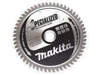Makita B-09307 Specialized Cirkelzaagblad - 165 x 20 x 56T - Aluminium / Trespa / Kunststof