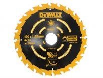 DeWalt DT10304 Extreme Cirkelzaagblad - 190 x 30 x 24T - Hout (Met nagels) - DT10304-QZ