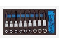 """Gedore 1500 CT1-ITX 19 LKP 20 delige dopsleutel schroevendraaierset in 1/3 CT module (PRS) - 1/2"""" - 2308940"""