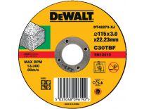 DeWalt DT42273 Doorslijpschijf recht voor steen - 115x3mm (25st) - DT42273-XJ