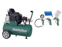Metabo Basic 250-24 W Compressor + LPZ 4 toebehorenset - 1500W - 8 bar - 24L - 95 l/min - 690836000
