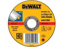DeWalt DT42241 Doorslijpschijf recht voor inox - 115x1.6mm (25st) - DT42241-XJ
