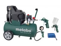 Metabo Basic 250-24 W OF SET Compressor + LPZ-4 toebehorenset - 1500W - 8 bar - 24L - 100 l/min - 690865000