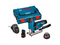 Bosch GST 10.8 V-LI 10.8V Li-Ion Accu decoupeerzaag set (2x 2.0Ah accu) in L-Boxx - T-greep - variabel - 06015A1000