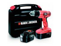 Black and Decker EPC18CABK 18V accu boor-/schroefmachine set (2x 1.0Ah accu) in koffer - EPC18CABK-QW