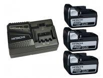 Hitachi 714906 Powerpack 14,4V Li-Ion accu - 5,0Ah (3 x BSL1450 + oplader)
