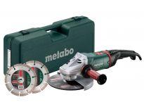 Metabo WE 24-230 MVT SET Haakse slijper incl. 2 diamantzaagbladen in koffer - 2400W - 230mm - 690869000