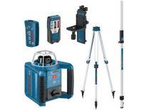 Bosch GRL 300 HVG SET Rotatie laser in koffer + LR 1G Ontvanger & BT 300 HD Statief & GR 240 Meetlat