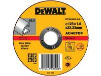 DeWalt DT42360 Doorslijpschijf vlak voor aluminium - 125x1.6mm (25st) - DT42360-XJ