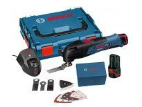 Bosch GOP 10,8 V-LI 10,8V Li-Ion accu multitool set (2x 2.5Ah accu) in L-Boxx + 11 delige accessoireset - 060185800U