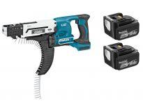 Makita DFR540RTJ 14.4V Li-Ion accu schroefautomaat / bandschroefmachine set (2x 5.0Ah accu) in Mbox - 25-55mm