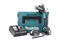 Makita DGA504RTJ 18V Li-Ion accu haakse slijper set (2x 5.0Ah accu) in Mbox - 125mm - koolborstelloos