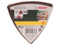 Bosch 2607019490 25-delige Schuurbladenset - Delta - K120 - 120x96mm