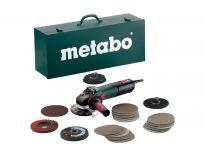 Metabo WEV 15-125 QUICK INOX SET Haakse slijper in koffer - 1550W - 125mm - softstart - variabel - 600572500