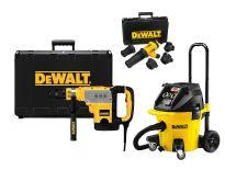 DeWalt D25723KPP SDS-max Combihamer (D25723K) incl. Stofafzuigsysteem (DWH051K) & Alleszuiger / bouwstofzuiger (DWV902M) combiset (MARGE) - D25723KPP-QS