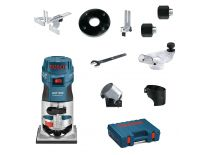 Bosch GKF 600 SET kantenfrees + 5 extra accessoires in koffer - 600W - 6-8mm - 060160A101