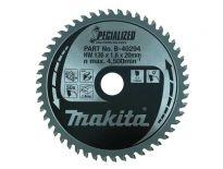 Makita B-40294 Specialized Cirkelzaagblad - 136 x 20 x 50T - Aluminium / Trespa / Kunststof