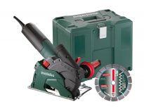 Metabo W 12-125 HD Set CED 125 Haakse slijper met sleuvenfrees opzetstuk in Metaloc - 1250W - 125mm - 600408500