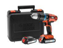Black + Decker EGBL188KB-QW 18V Li-ion accu klopboor-/schroefmachine set (2x 1,3Ah accu) in koffer