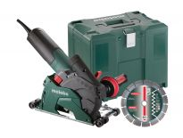 Metabo W 12-125 HD Set CED PLUS Haakse slijper met sleuvenfrees opzetstuk in Metaloc - 1250W - 125mm - 600408510