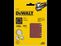 DeWalt DT3034 Schuurpapier - P180 - 115x115 (25st) - DT3034-QZ