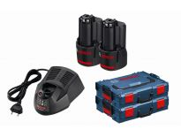 Bosch 0615990FP9 10.8V Li-Ion accu starterset (2x 2.0Ah) + lader in L-Boxx
