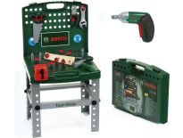 Bosch 1619M00L2J Speelgoed Tool-Shop werkbank met Ixolino accuboormachine