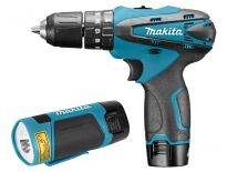 Makita HP330DWLE 10.8V Li-Ion accu klopboor-/schroefmachine (HP330) & Lamp (ML100) combiset (2x 1.3Ah accu) in koffer