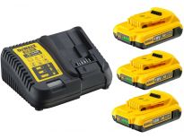 DeWalt DCB115D3 Starterset 10,8V 3x 2.0Ah accu + oplader - DCB 115 - DCB 183 - DCB115D3-QW