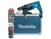 Makita HR2631FT13 SDS-plus Combihamer incl. snelspanboorkop in koffer - 800W - 2,4J