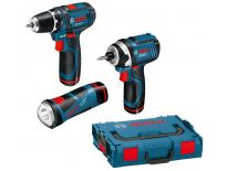 Bosch 0615990G03 GSR 10,8-2-Li + GDR 10,8V + GLI 10,8V Li-Ion accu combi set (2x 2.0Ah accu) in L-Boxx