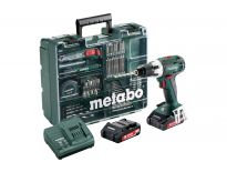 Metabo BS 18 LT SET 18V Li-Ion accu boor-/schroefmachine set (2x 2,0Ah accu) + accessoire set in koffer - 602102600