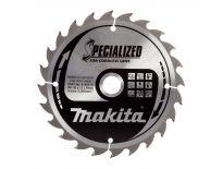 Makita B-09173 Specialized Cirkelzaagblad - 165 x 20 x 24T - Hout