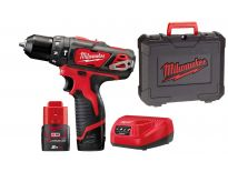 Milwaukee M12 BPD-202C 12V Li-Ion accu klopboor-/schroefmachine set (2x 2.0Ah accu) in koffer - 4933441940
